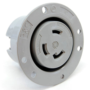 NEMA L6-30 (250VAC, 30A) twist lock electrical female receptacle