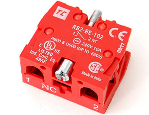 Normally closed (NC) contactor / contact block, 10A/240VAC