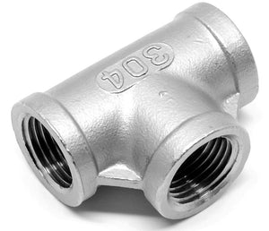 Stainless steel tee 1/2 inch NPT female