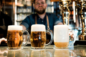 The three correct ways of pouring a Pilsner Urquell are Na dvakrát (crisp), Hladinka pour (smooth), and Mliko (milk)