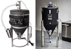 Chilled conical fermenters