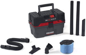RIDGID 50318 4500RV ProPack Wet Dry Vac, 4.5-Gallon Portable Wet Dry Vacuum with Toolbox Design, 5.0 Peak HP Motor, Expandable Pro Hose, Blower Port