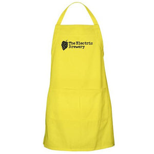 The Electric Brewery branded full length apron