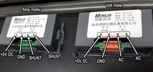 Amp and volt meter pinouts