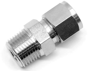 Stainless steel 1/2 inch compression x 1/2 inch NPT male fitting