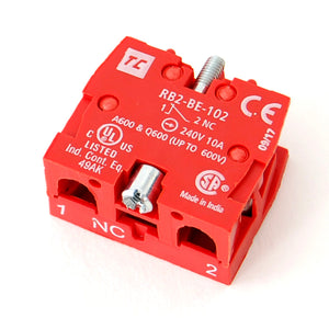Normally Closed (NC) contactor, 10A/240VAC