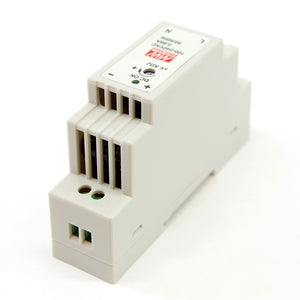 Adjustable DC power supply, 85-264V AC input, 4.75-5.5V DC output, DIN rail mount