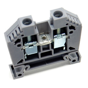 65A single terminal block, DIN rail mount