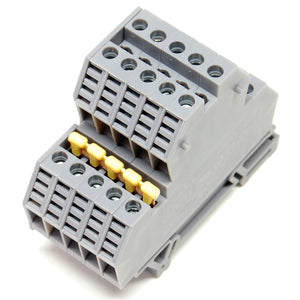 30A terminal block, 2 level, feed through, DIN rail mount