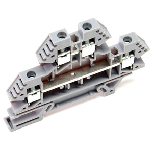 30A terminal block, 2 level, DIN rail mount