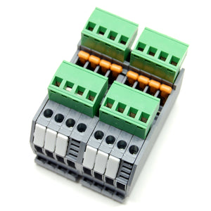 12A terminal block bus, DIN rail mount