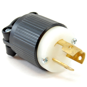 NEMA L5-15 (120VAC, 15A) twist lock electrical male plug