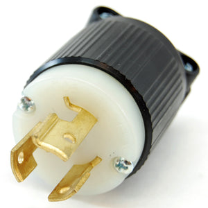 NEMA L6-15 (250VAC, 15A) twist lock electrical male plug