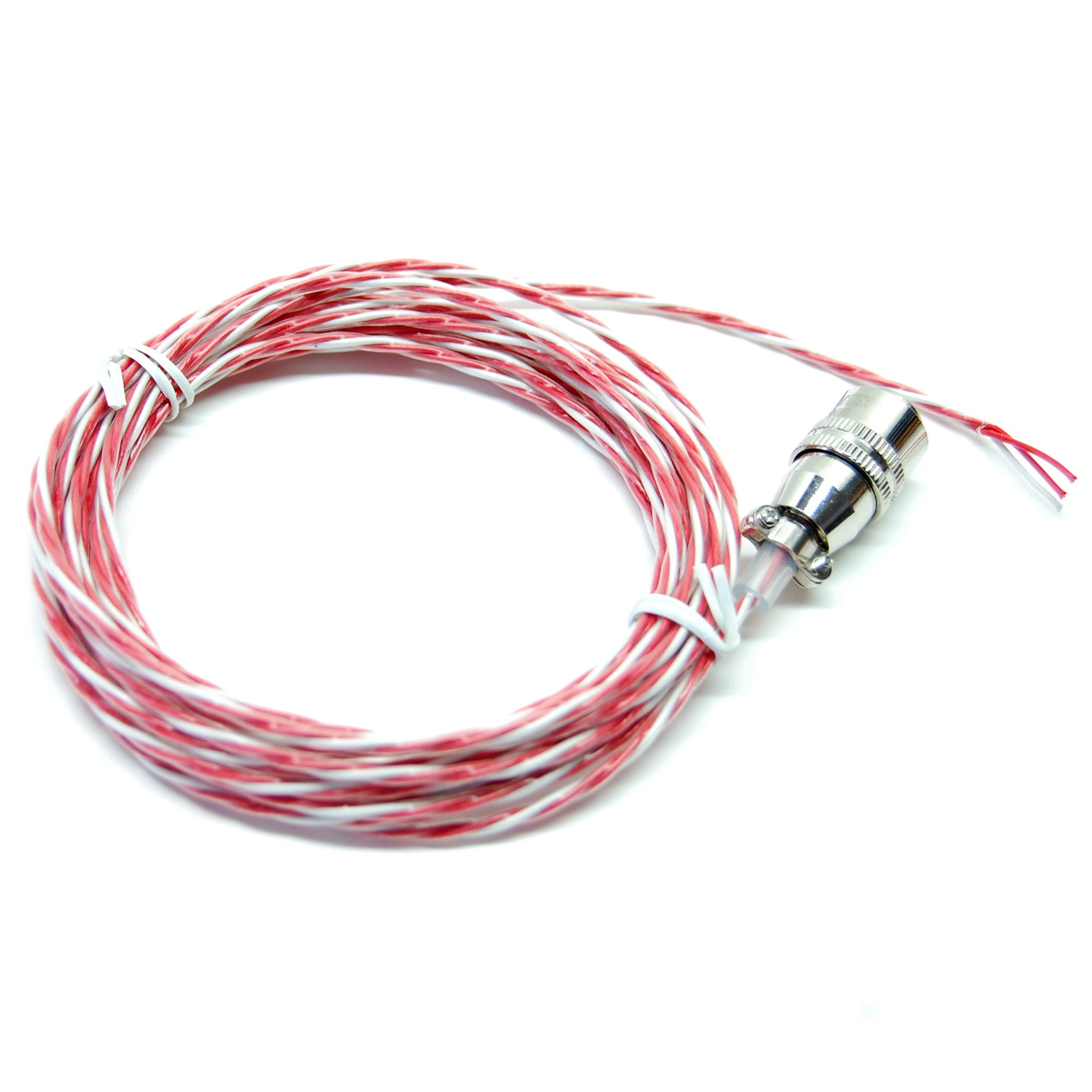 Temperature probe wire with locking connector, 3-conductor, teflon ...