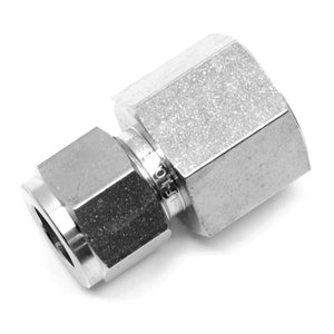 "Stainless steel 1/2"" compression x 1/2"" NPT female fitting"