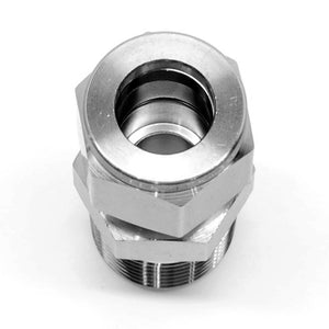 "Stainless steel 1/2"" compression x 1/2"" NPT male fitting"