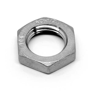 "Stainless steel 1/2"" NPT lock nut"