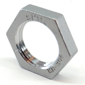 "Stainless steel locknut, 1"" NPS"