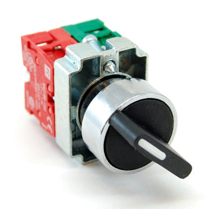 2 position maintained selector switch, NO/NC contactors