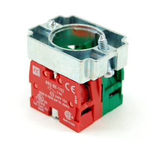2 position maintained selector switch with key, NO/NC contactors