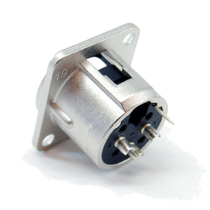 XLR chassis mount male receptacle, 3 pin