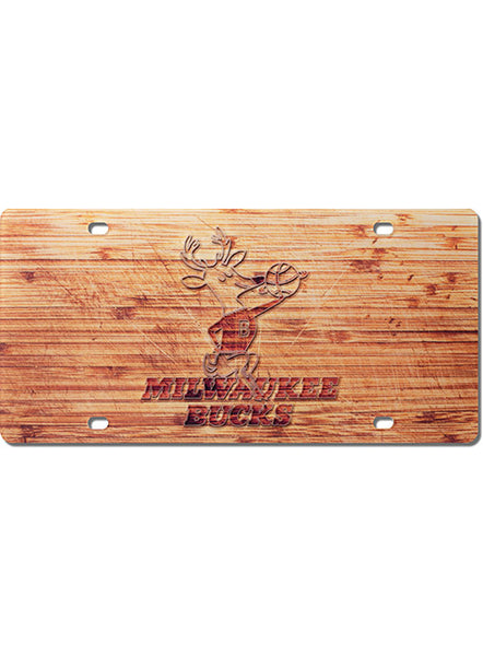 Wincraft Hardwood Classic Acrylic Milwaukee Bucks License Plate