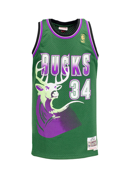 reputable site 945cb a4c5f Mitchell & Ness Ray Allen Milwaukee Bucks HWC Swingman Jersey | Bucks Pro  Shop