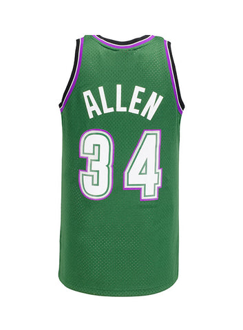 Mitchell   Ness Ray Allen Milwaukee Bucks HWC Swingman Jersey1996-97 Hardwood  Classic Jersey commemorating 2018 Basketball Hall of Fame inductee Ray  Allen. 9a64725b1