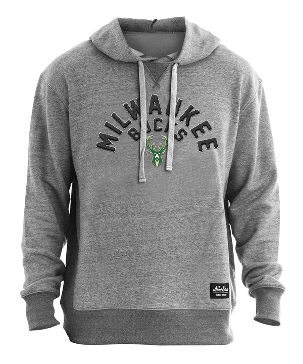 New Era French Terry Arch Milwaukee Bucks Hooded Sweatshirt