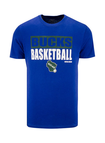 '47 Royal Blockout State Milwaukee Bucks T-Shirt