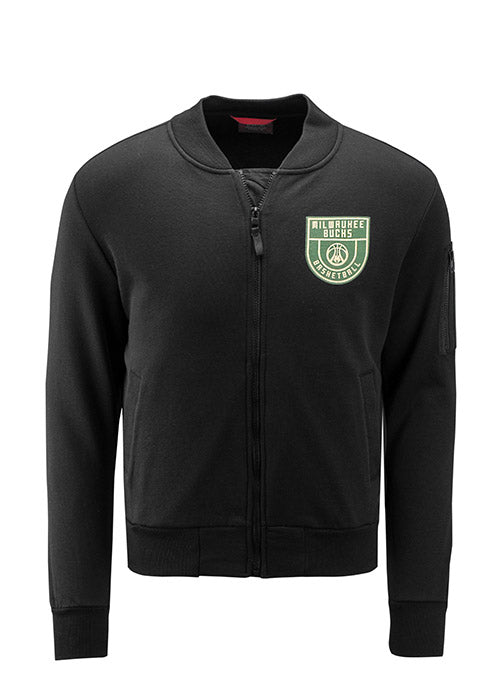 Sportiqe Maverick Corsair Milwaukee Bucks Bomber Jacket