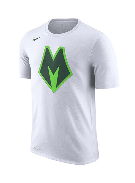 Nike M Logo Earned Edition Milwaukee Bucks T-Shirt