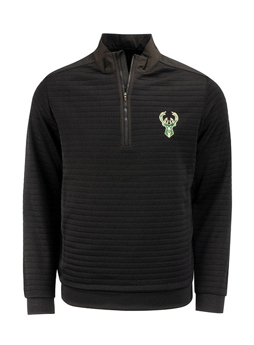 Antigua Sanction Icon Milwaukee Bucks 1/4 Zip Pullover