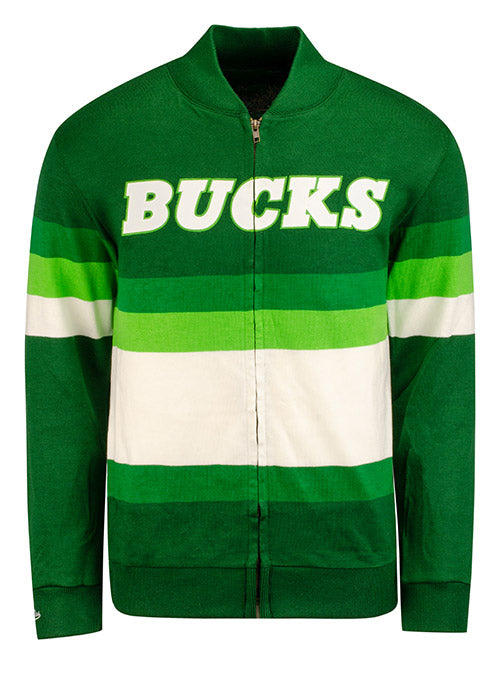 Mitchell & Ness Hardwood Classics Sweater Full Zip Milwaukee Bucks Jacket