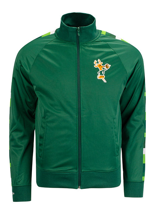 Mitchell & Ness Hardwood Classics Irish Rainbow Green Full-Zip Milwaukee Bucks Track Jacket
