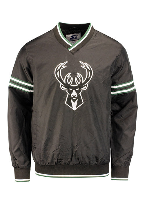Starter Gameday Icon V-Neck Pullover Milwaukee Bucks Jacket