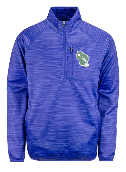 G3 Power Play State Milwaukee Bucks 1/4 Zip Pullover
