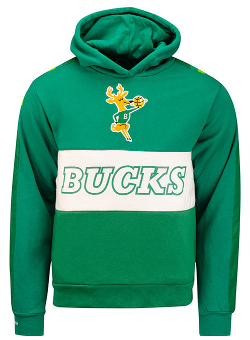 Mitchell & Ness Hardwood Classics Leading Scorer Milwaukee Bucks Hooded Sweatshirt