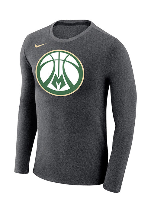 Nike Marled Ball Milwaukee Bucks Long Sleeve T-Shirt