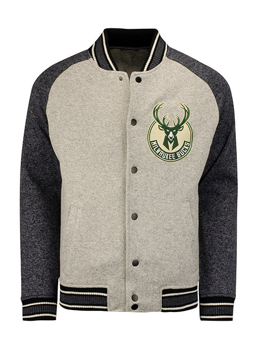 G3 Varsity Global Snap Front Milwaukee Bucks Jacket
