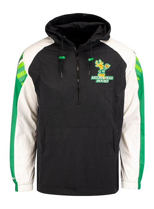 Mitchell & Ness Hardwood Classics 1/2 Zip Milwaukee Bucks Anorak