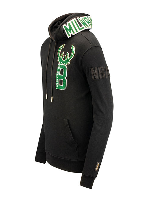 Pro Standard Blended Logos Milwaukee Bucks Hooded Sweatshirt