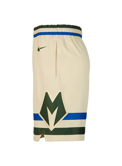 Nike City Edition Cream City Swingman Milwaukee Bucks Shorts