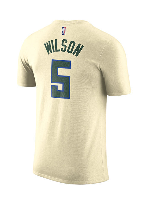 Nike City Edition Cream City D.J. Wilson Milwaukee Bucks T-Shirt