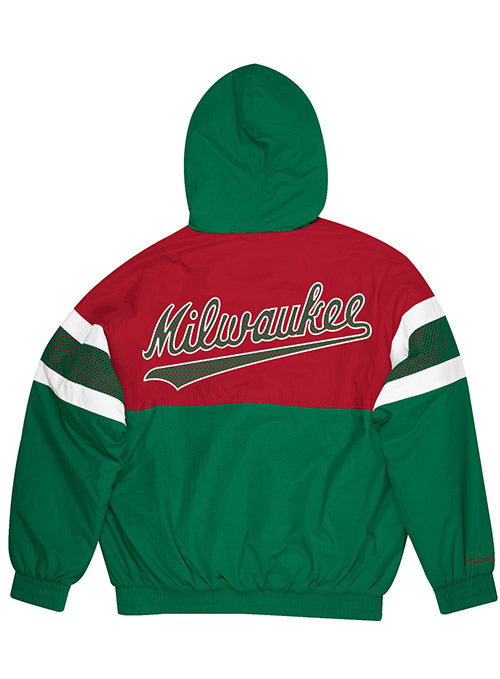 Mitchell & Ness Hardwood Classics Team Prospect Milwaukee Bucks Full Zip Jacket