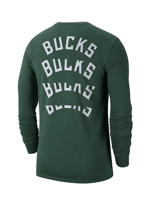 Nike Wordmark Repeat Milwaukee Bucks Long Sleeve T-Shirt
