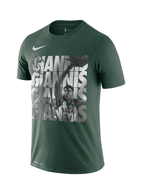 Nike Giannis Antetokounmpo Bold Repeat Milwaukee Bucks T-Shirt