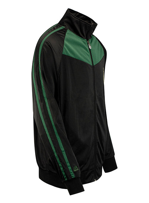 Big & Tall Majestic Fancy Tricot Milwaukee Bucks Full Zip Jacket