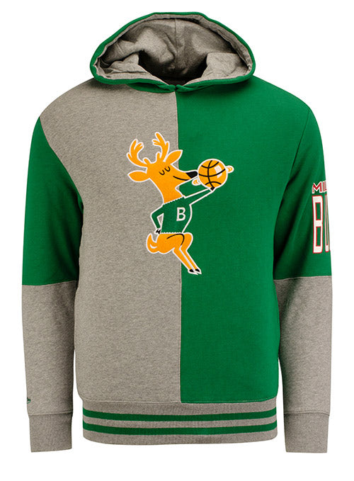 Mitchell & Ness Hardwood Classics Split Milwaukee Bucks Hooded Sweatshirt