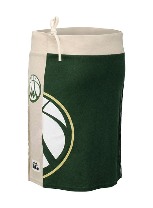 Women's Refried Tees Womens Milwaukee Bucks Drawstring Skirt